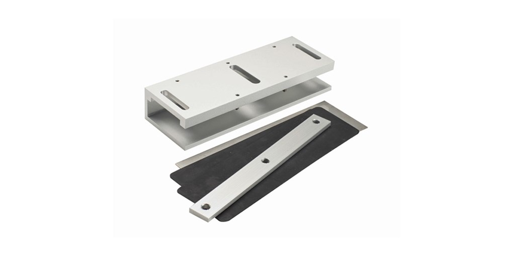 Mounts Ar Plate On Frameless Glass Dooraccommodates 600 And 1200 Series Magnetic Lock Plates